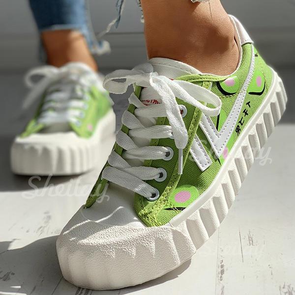 Pentru Femei Pânză Casual Afară cu Lace-up pantofi