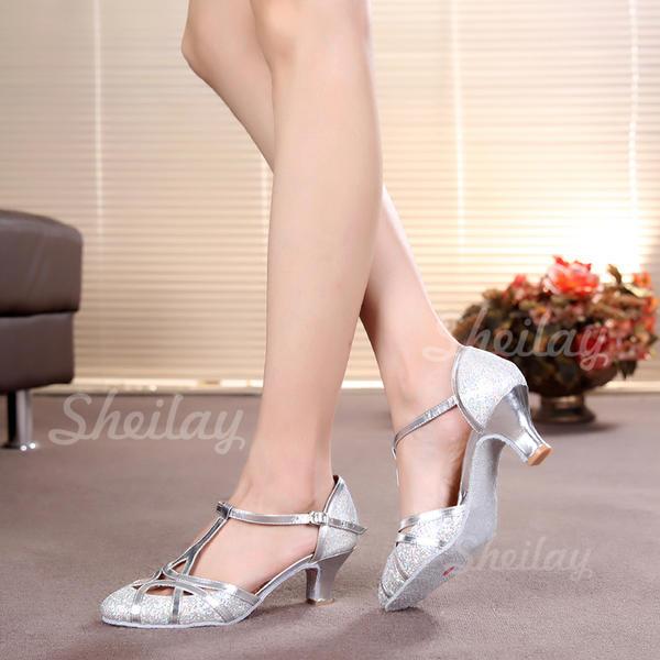 Női Bálterem Sarok Magassarkú Csillám -Val T-szíj Alkalmi cipők