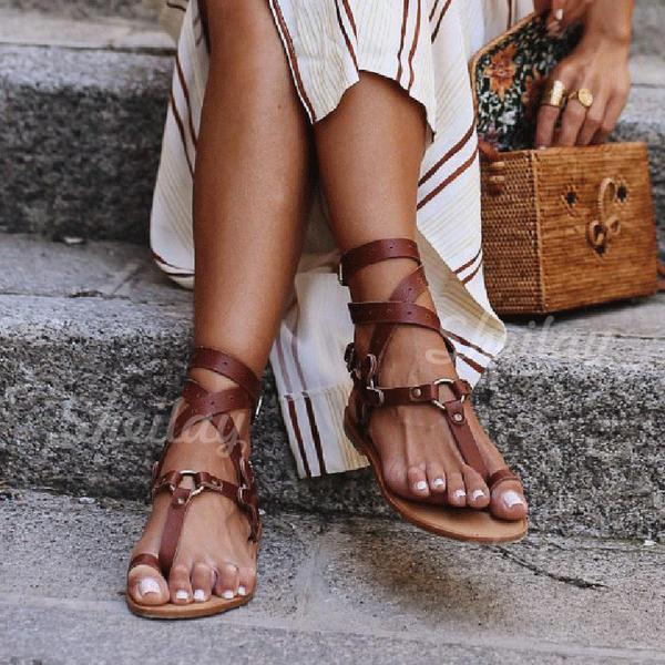 Naisten PU Matalakorkoiset Heel Sandaalit Matalakorkoiset Peep toe jossa Solki kengät