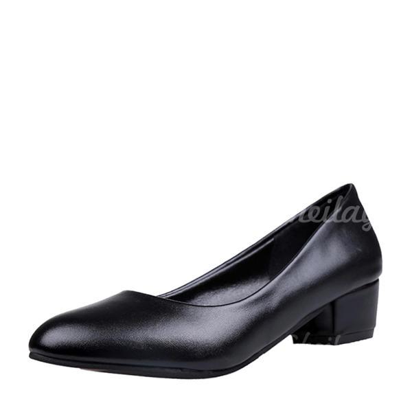 Donna Similpelle Tacco basso Punta chiusa scarpe