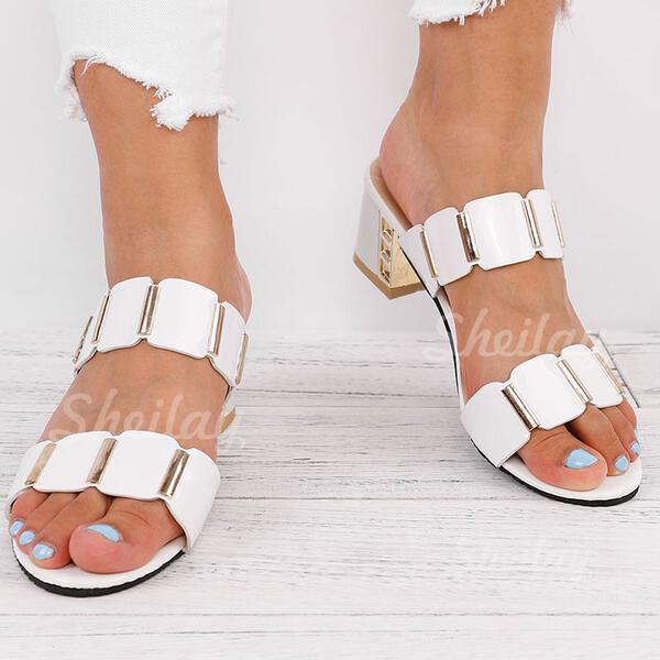 Pentru Femei PU Toc gros Sandale Încălţăminte cu Toc Înalt Şlapi cu Altele pantofi