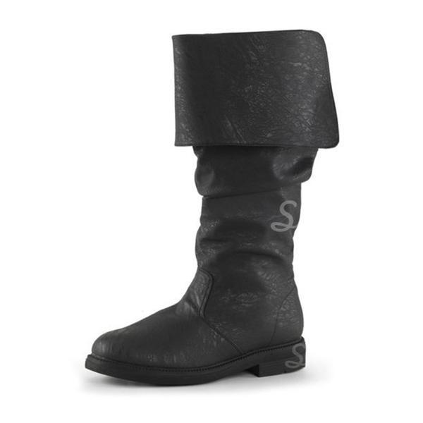 hivatalos képek hatalmas választéka aranyos Női Műbőr Lapos sarok Lakások Csizma Térdig érő csizmák cipő ...