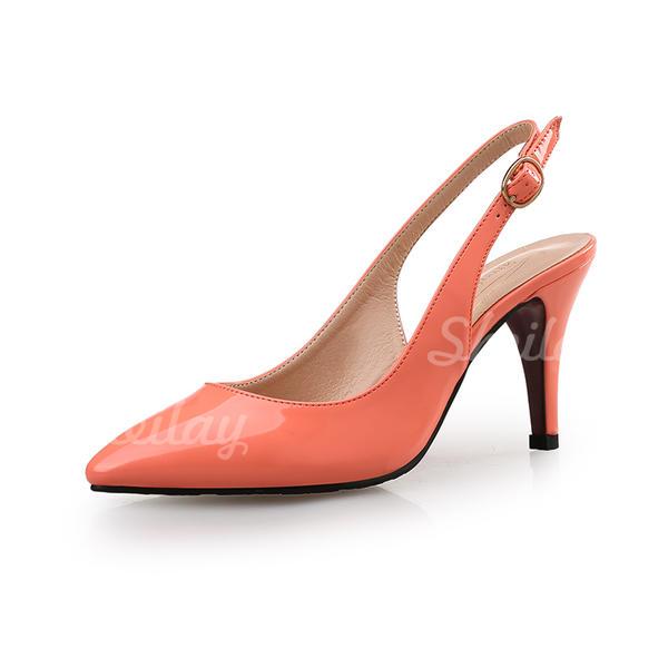 Női Lakkbőr Tűsarok Magassarkú Zárt lábujj cipő