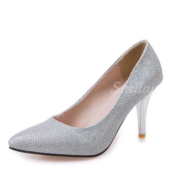 Жіночі Шкіра Шпилька Насоси Закритий палець з Блискітка Інші взуття