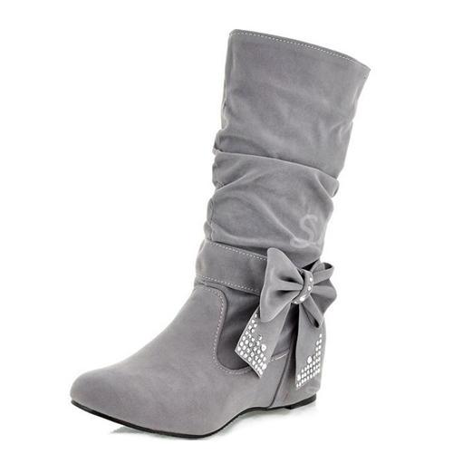 nuovo concetto 5dd5b 49c00 [US$ 21.99] Donna Similpelle Senza tacco Ballerine Punta chiusa Stivali  Stivali altezza media scarpe - Sheilay
