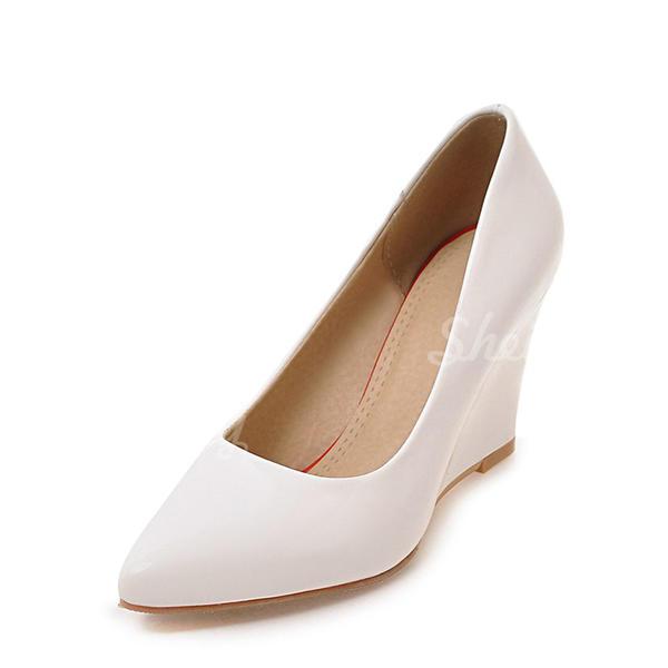Donna Pelle verniciata Zeppe Punta chiusa Zeppe con Altrui scarpe