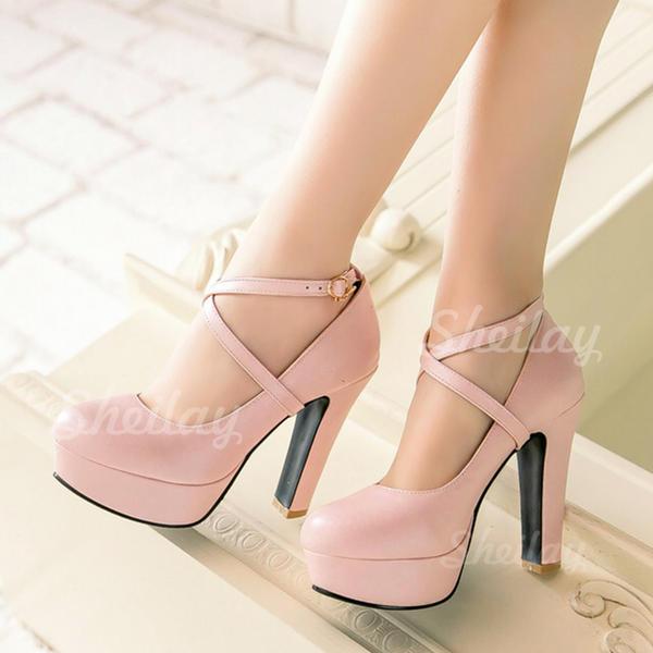 Жіночі Шкіра Шпилька Насоси Платформа взуття