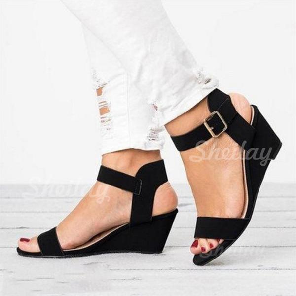 Pentru Femei PU Platforme Înalte Sandale cu Cataramă pantofi