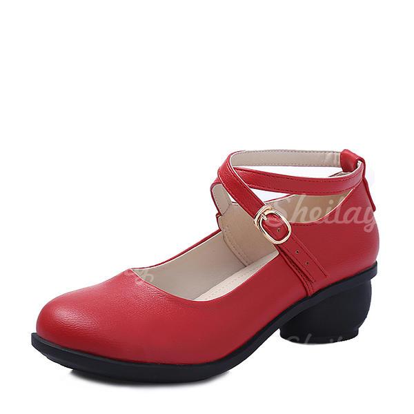 Donna Sala da ballo Sneakers Vera pelle con Fibbia Sneakers