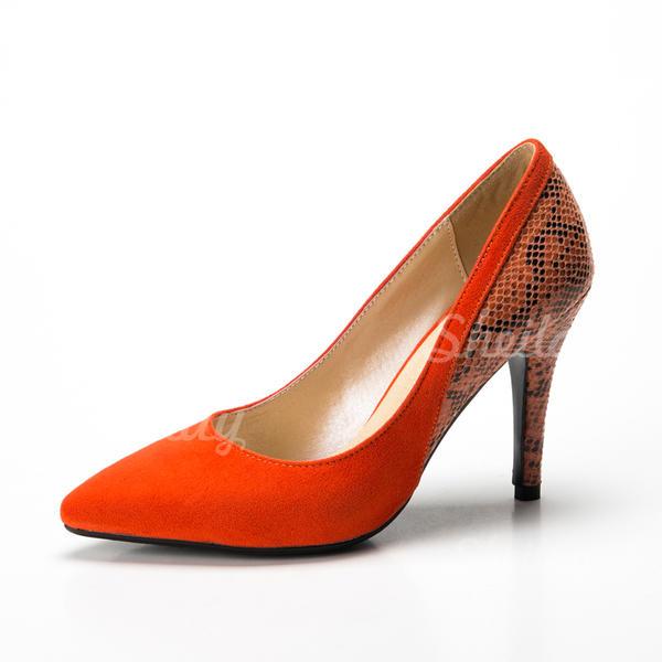 Női Szarvasbőr Műbőr Tűsarok Magassarkú Zárt lábujj cipő