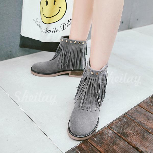 Насоси Чоботи Бокові черевики з Заклепка Блискавка Кисточки з ниток взуття