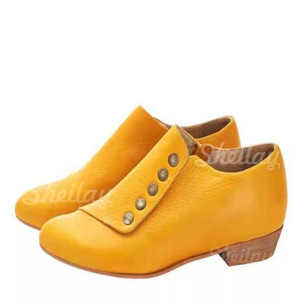 Pentru Femei PU Toc gros Botine cu Altele pantofi