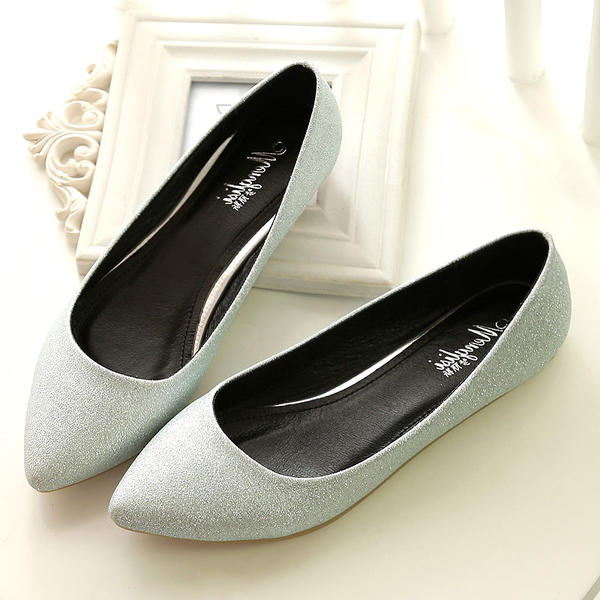 Women's Microfiber Leather Flat Heel Flats Closed Toe shoes