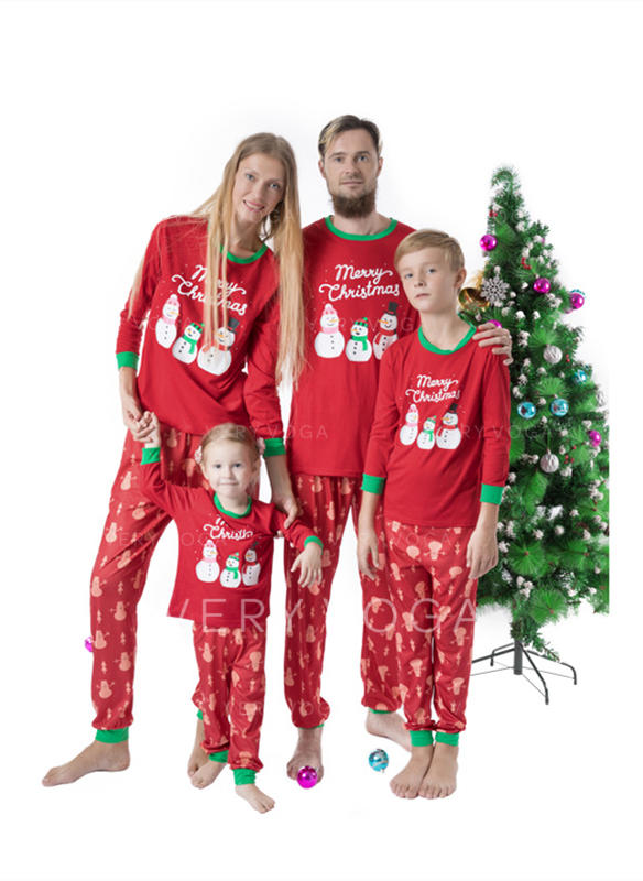 Kreskówka Wydrukować Rodzinne Dopasowanie Świąteczne piżamy