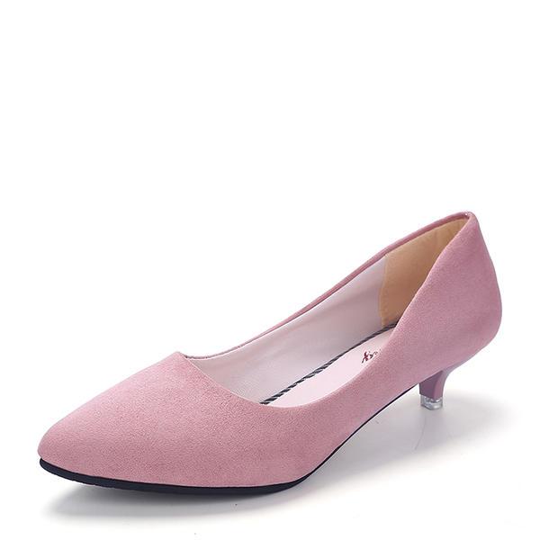 Naisten Mokkanahka Kitten heel Suljettu toe kengät