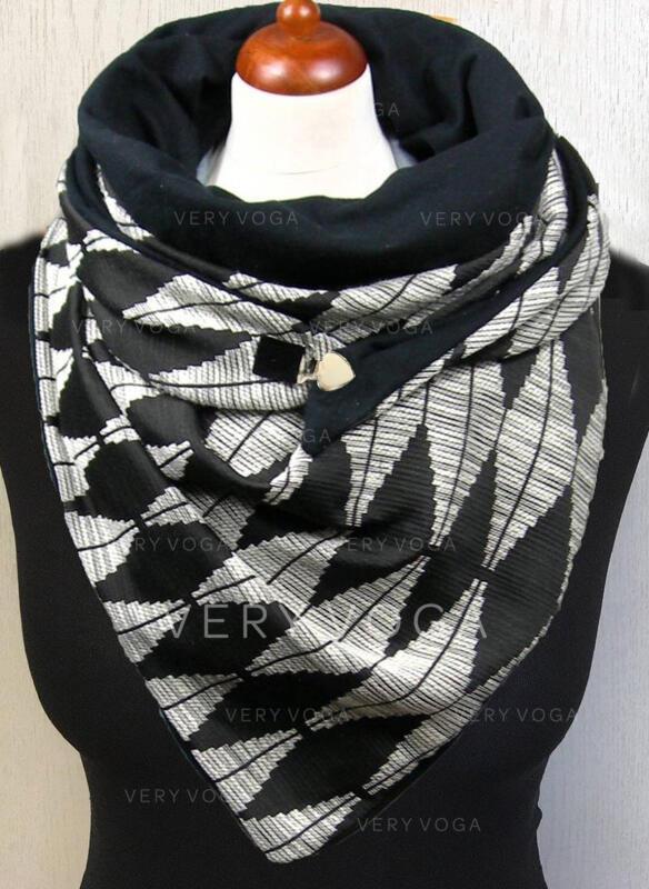 Color Block/Retro/Vintage/Geometric fashion/Comfortable/Spider Scarf