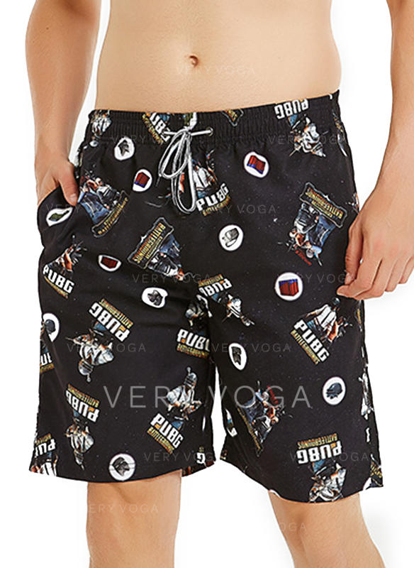 Men's Print Quick Dry Board Shorts