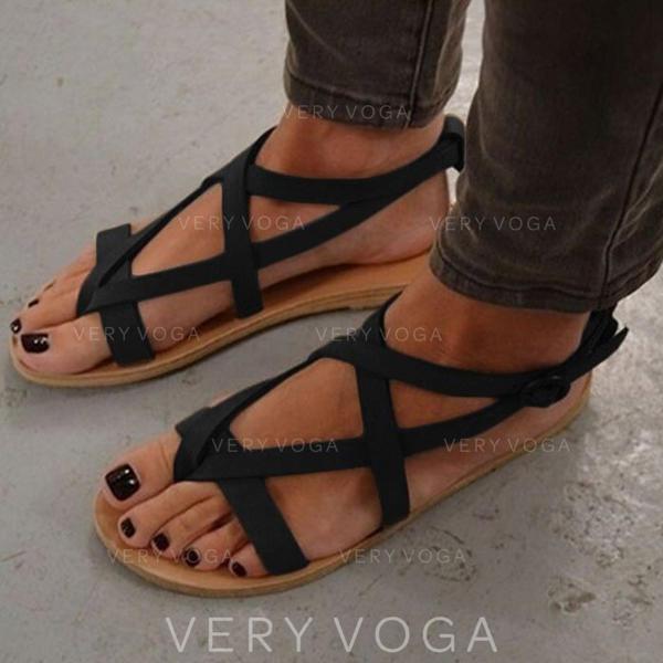 Női PU Lapos sarok Szandál Lakások -Val Egyéb cipő