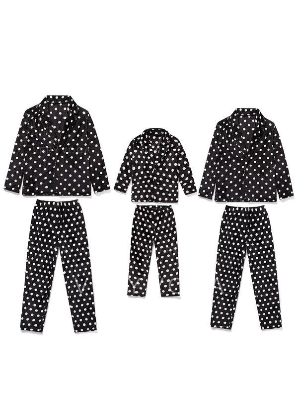 À Pois Tenue Familiale Assortie Pyjamas