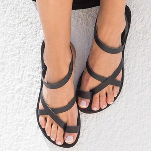 Γυναίκες Λείαντο Επίπεδη φτέρνα Σανδάλια Διαμερίσματα Με Κουκούλα-έξω παπούτσια