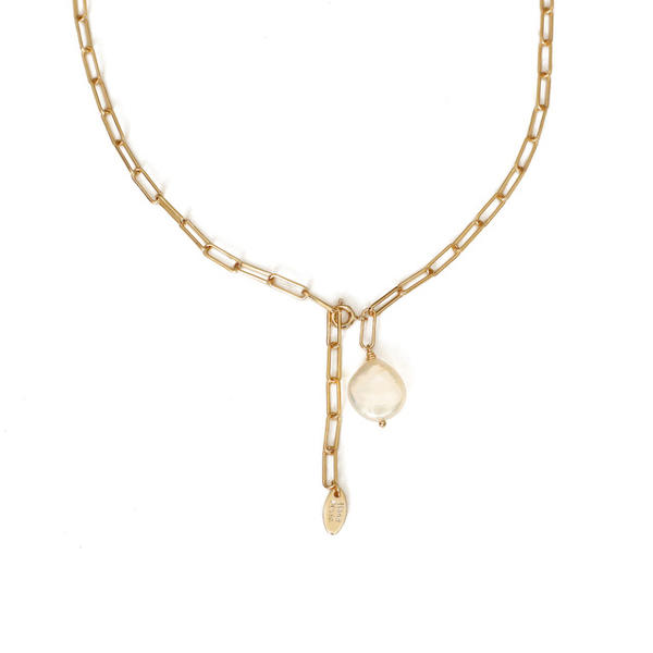 Beautiful Brass Pearl Women's Necklaces
