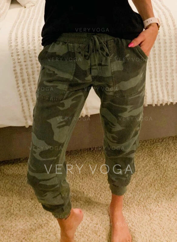 Camouflage Long Casual Sporty Pants