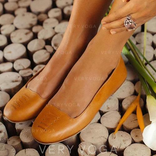 Kvinner PU Flat Hæl Flate sko med Annet sko