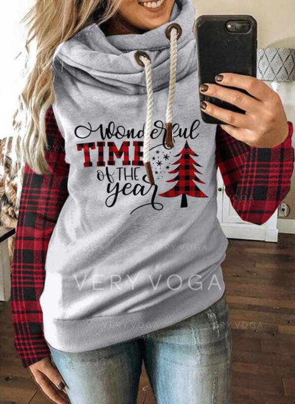 Wydrukować krata Φιγούρα Μακρυμάνικο Χριστουγεννιάτικο μπλουζάκι