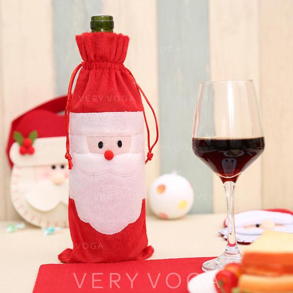 Merry Christmas Santa Cloth Bottle Cover