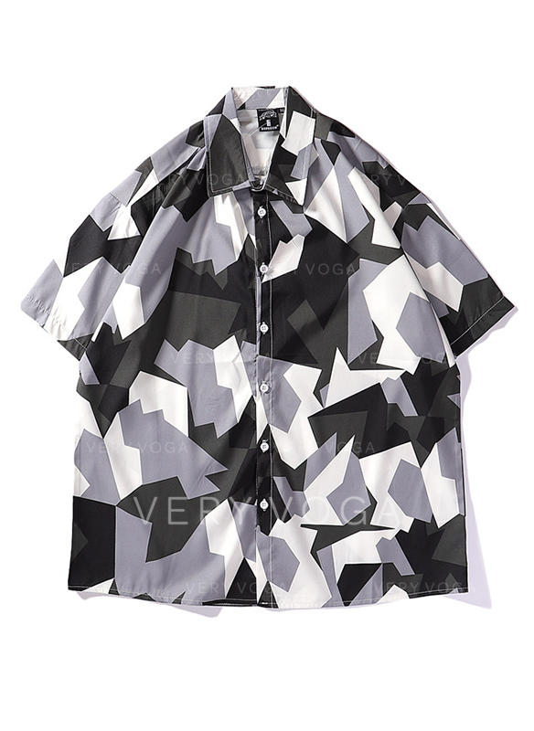 Mężczyźni Kolor splotu Hawajski Plażowe koszule (1029262439  FLMMQ