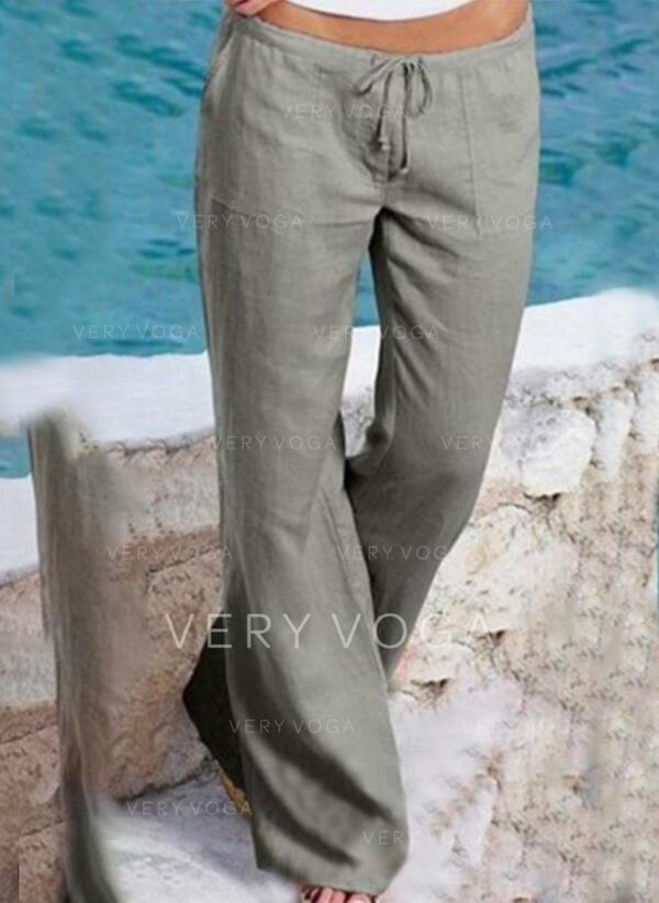 ポケット シャーリング プラスサイズ 長いです 生きます カジュアル 長い パンツ