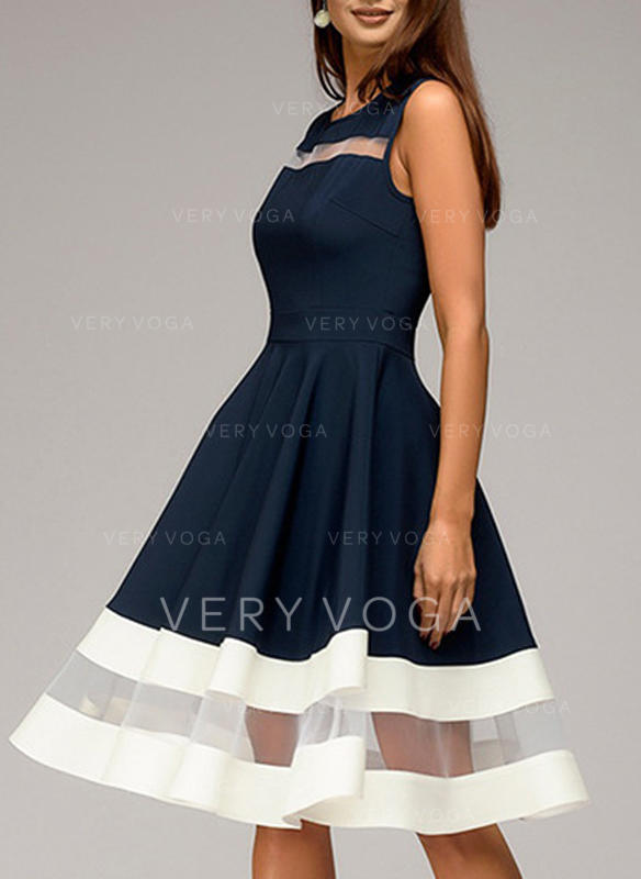 [US$ 45.99] Striped Sleeveless A,line Knee Length Vintage/Casual Dresses ,  VeryVoga