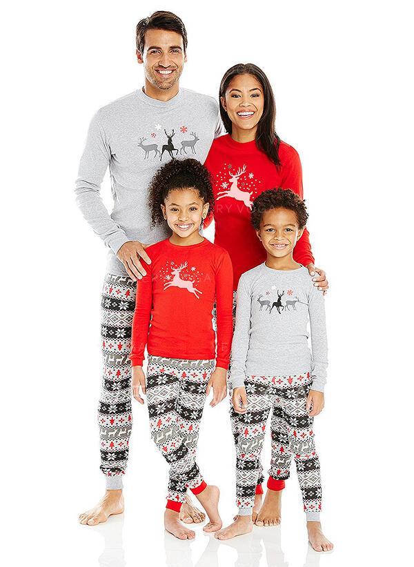 Rénszarvas Nyomtatás Családi Karácsonyi pizsamák