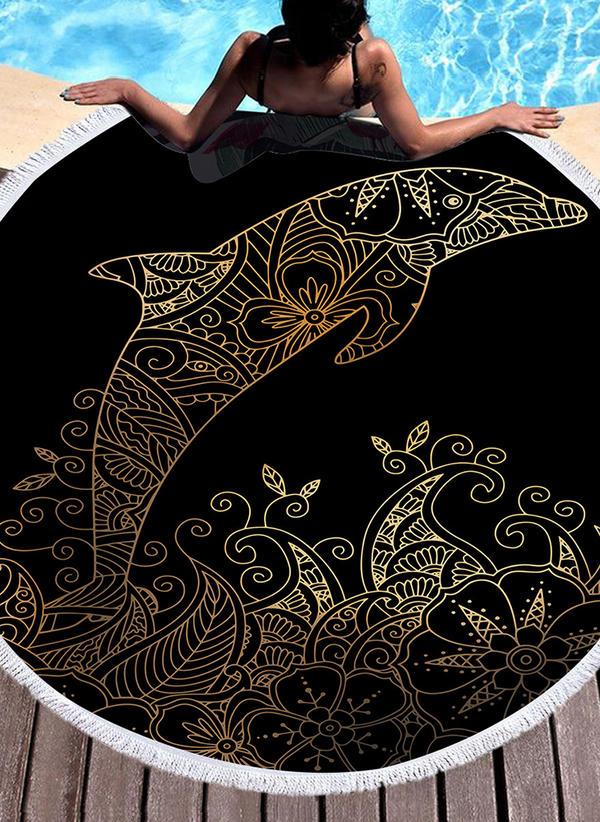 Retro /Cru/Faune Énorme/rond serviette de plage