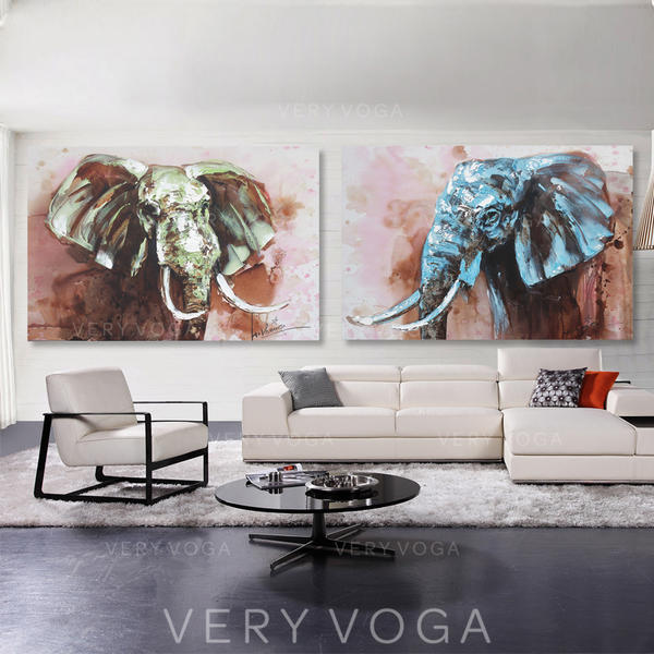 Modern Suorakulmio Eläinmaalauksia