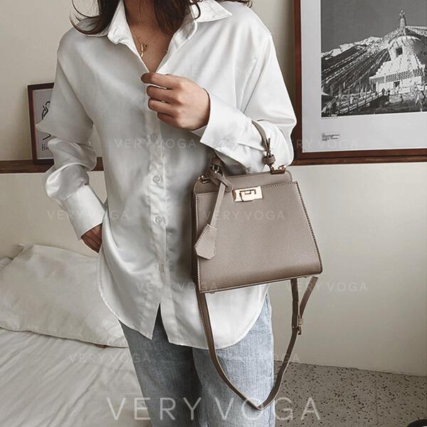 Elegant/Vintga/Solid Color/Simple Shoulder Bags