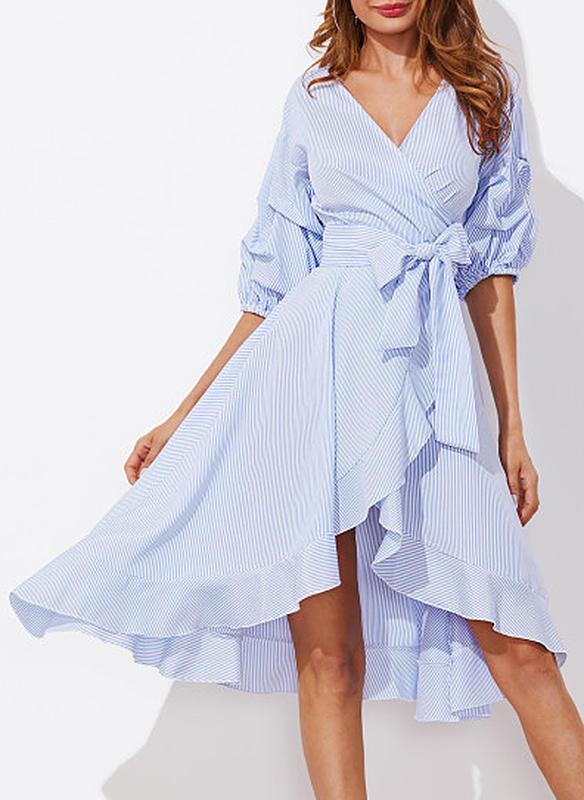 b9fecb70654c0e Halbarm A-Linien Kleider Asymmetrisch Lässige Kleidung Kleider ...