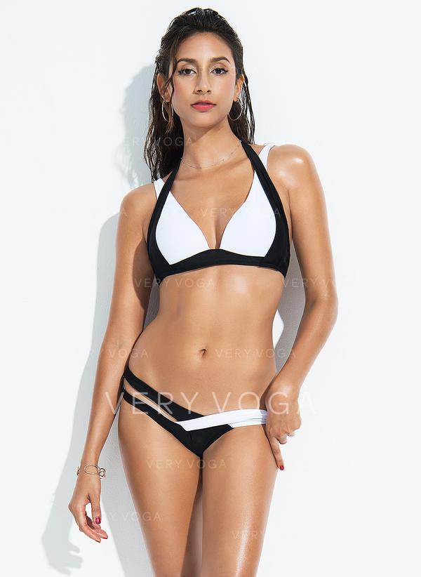 Triangle Low Waist Halter Sexy Plus Size Bikinis Swimsuits