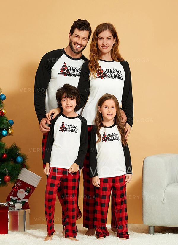 Karierte Schreiben Passende Familie Christmas Pajamas