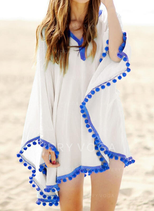Tassels V-Neck Bohemian Cute Cover-ups Swimsuits