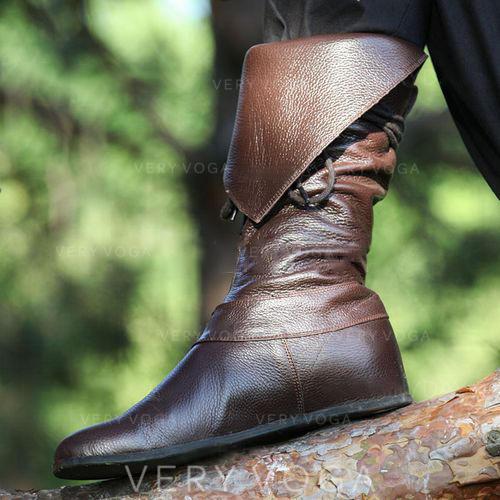 Dámské PU Placatý podpatek Boty S Zip obuv
