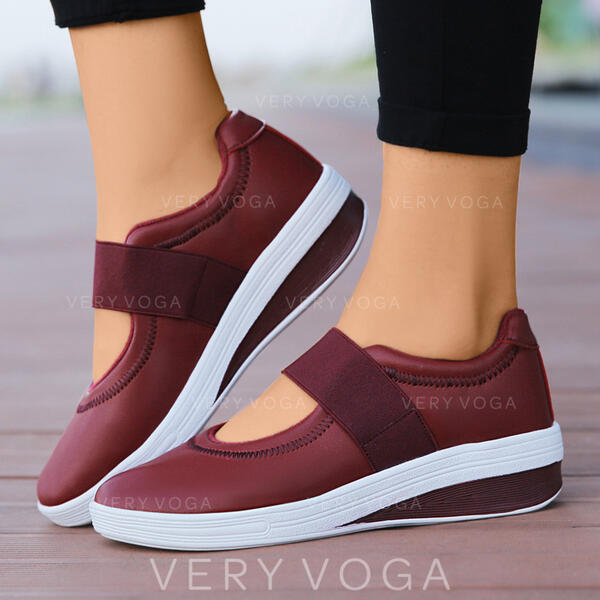 Women's Microfiber Outdoor Athletic With Elastic Band shoes