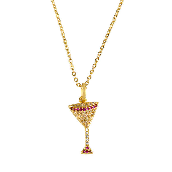 Fashionable Exotic Alloy With CZ Cubic Zirconia Necklaces