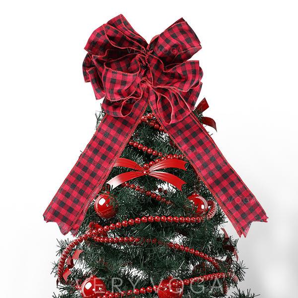 щасливого Різдва Тканина Різдвяний декор Топпер на ялинку