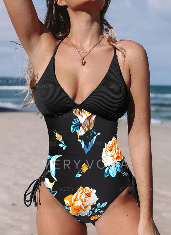 Floral Print Sexy One-piece Swimsuits