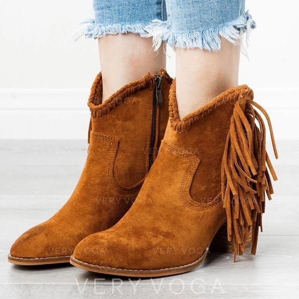 Dámské PU Široký podpatek Boty S Přezka obuv