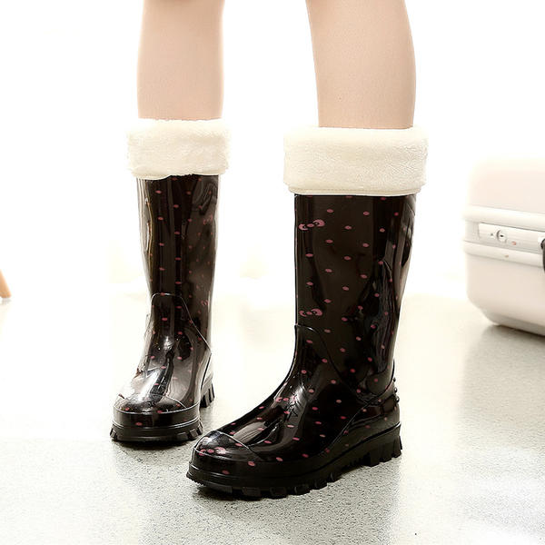 ff8ac30316a0 Women s PVC Low Heel Boots Mid-Calf Boots Rain Boots With Others shoes