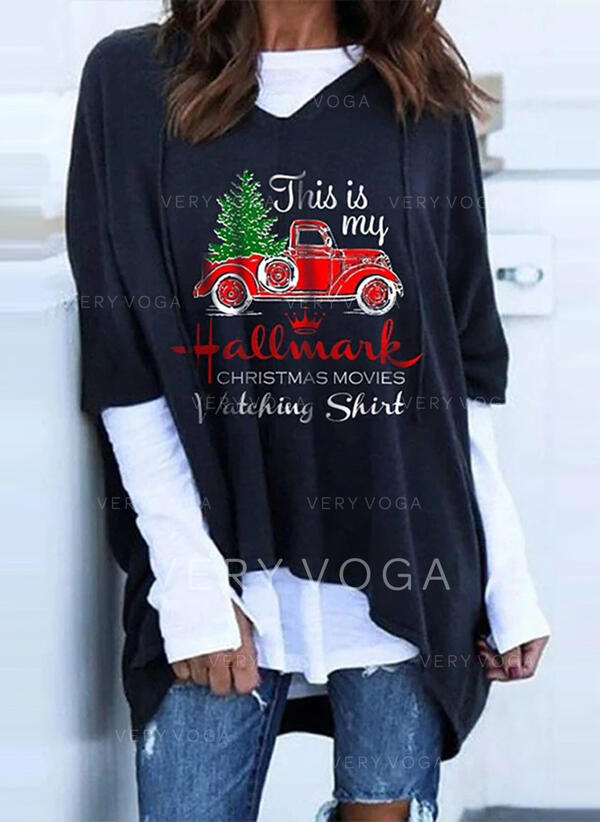 Print Figur Lange ærmer Jule sweatshirt
