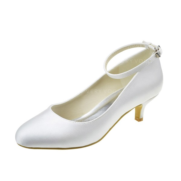 808190e2ff1 Women s Satin Low Heel Closed Toe Pumps With Buckle (047062044 ...
