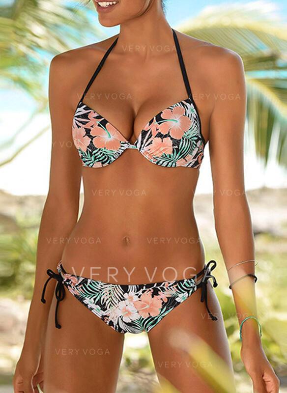 Fleuris Dos Nu Col V Mignon Colorful Bikinis Maillots De Bain